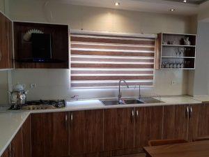 آشپزخانه ویلا جنگلی استخردار نوشهر